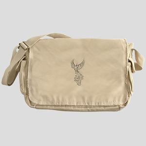 black-phoenix-bird Messenger Bag