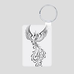black-phoenix-bird Aluminum Photo Keychain