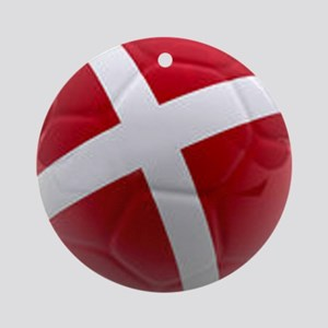 Denmark world cup ball Ornament (Round)