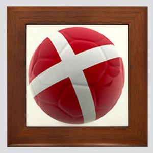 Denmark World Cup Ball Framed Tile