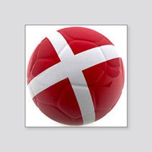 "Denmark world cup ball Square Sticker 3"" x 3"""