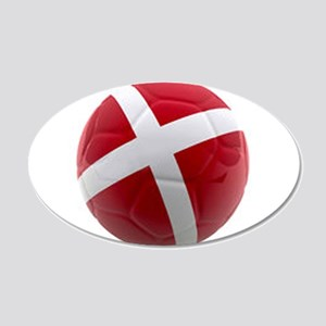 Denmark world cup ball 20x12 Oval Wall Decal