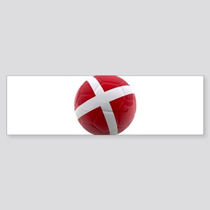 Denmark world cup ball Sticker (Bumper)
