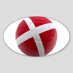 Denmark world cup ball Sticker (Oval)