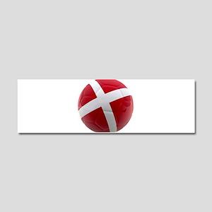 Denmark world cup ball Car Magnet 10 x 3
