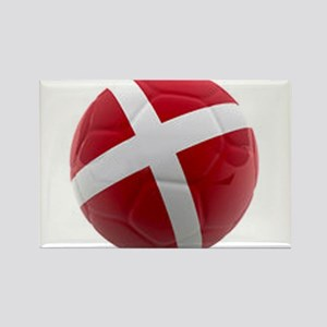 Denmark world cup ball Rectangle Magnet