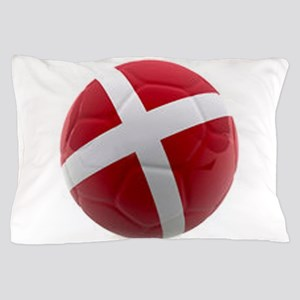 Denmark world cup ball Pillow Case
