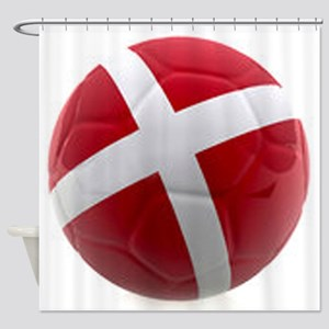 Denmark world cup ball Shower Curtain