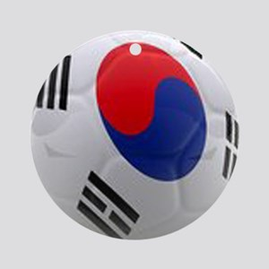 South Korea world cup soccer ball Ornament (Round)