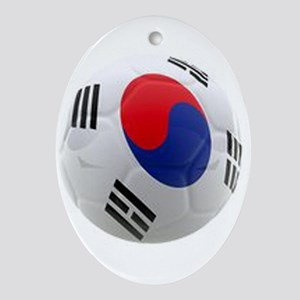 South Korea world cup soccer ball Ornament (Oval)