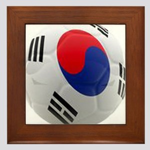 South Korea world cup soccer ball Framed Tile