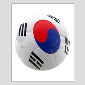 South Korea world cup soccer ball Small Poster
