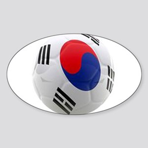 South Korea world cup soccer ball Sticker (Oval)
