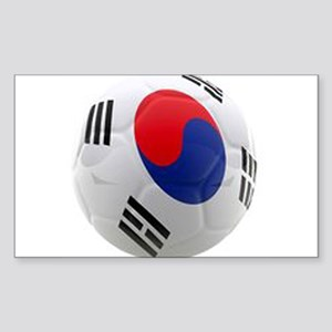 South Korea world cup soccer ball Sticker (Rectang