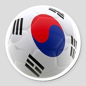 South Korea world cup soccer ball Round Car Magnet