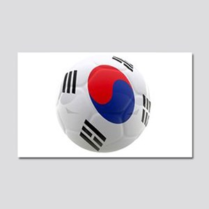 South Korea world cup soccer ball Car Magnet 20 x