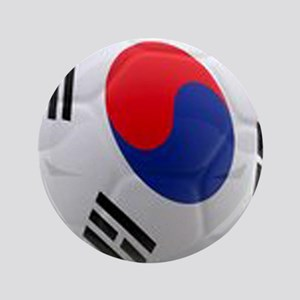 "South Korea world cup soccer ball 3.5"" Button"