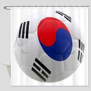 South Korea world cup soccer ball Shower Curtain