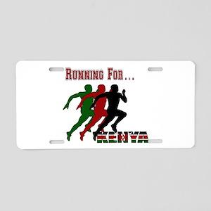 Kenya Running Aluminum License Plate