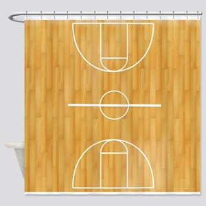 Basketball Court Shower Curtain