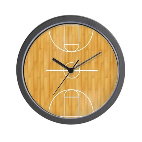 Basketball Court Wall Clock by voodooTs