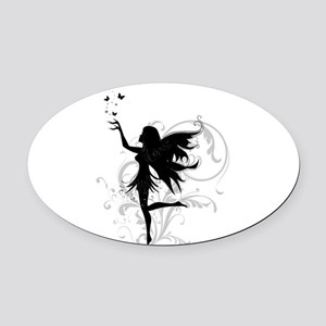 fairy Oval Car Magnet
