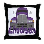 Trucker Lindsay Throw Pillow