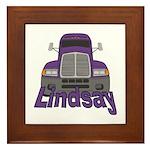 Trucker Lindsay Framed Tile