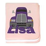 Trucker Lisa baby blanket
