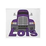 Trucker Lois Throw Blanket