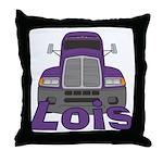 Trucker Lois Throw Pillow