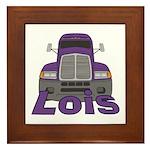Trucker Lois Framed Tile