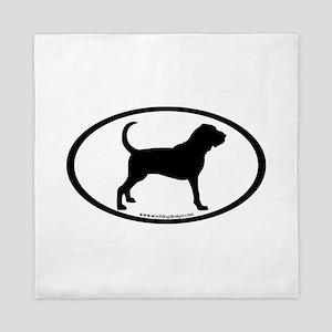 oval sticker bloodhound Queen Duvet