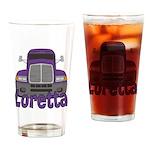 Trucker Loretta Drinking Glass