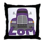 Trucker Lori Throw Pillow