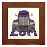 Trucker Lori Framed Tile