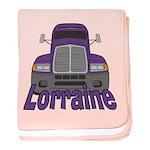 Trucker Lorraine baby blanket