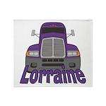 Trucker Lorraine Throw Blanket