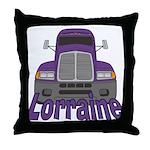 Trucker Lorraine Throw Pillow