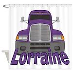 Trucker Lorraine Shower Curtain