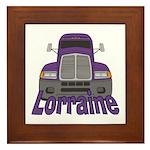 Trucker Lorraine Framed Tile