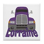 Trucker Lorraine Tile Coaster