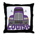 Trucker Louise Throw Pillow