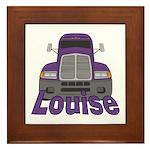 Trucker Louise Framed Tile