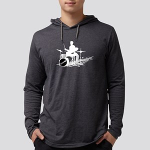 Drummer Drumming Mens Hooded Shirt
