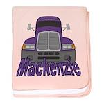 Trucker Mackenzie baby blanket