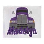 Trucker Madelyn Throw Blanket