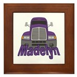 Trucker Madelyn Framed Tile