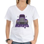 Trucker Makayla Women's V-Neck T-Shirt