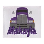 Trucker Makayla Throw Blanket